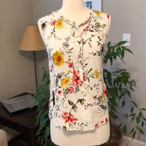 Old Navy Floral Butterfly Swing Tank XS Summer NEW